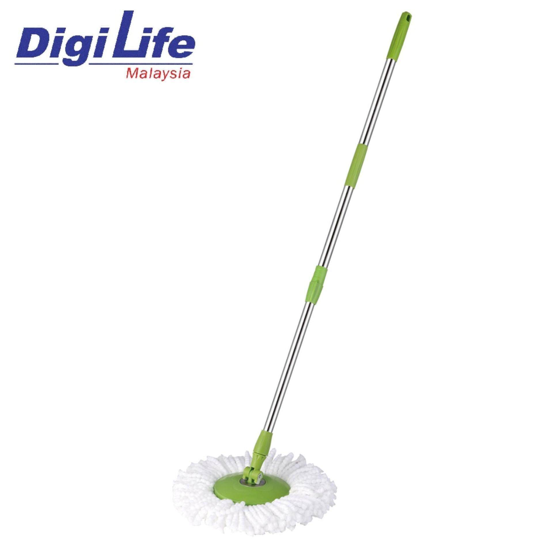 Stainless Steel Easy Mop Spin Mop Handle W/ Microfibre Mop Cloth Spare Parts / Accessories / Replacement By Digilife.
