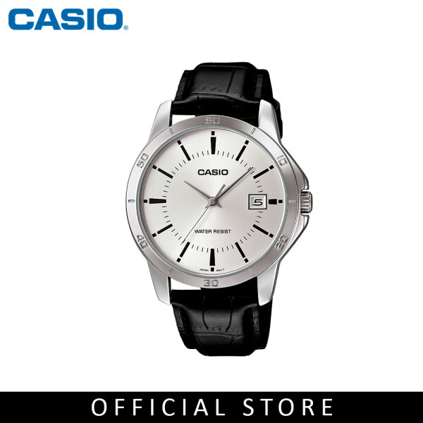 Casio General MTP-V004L-7A Black Leather Band Men Watch Malaysia