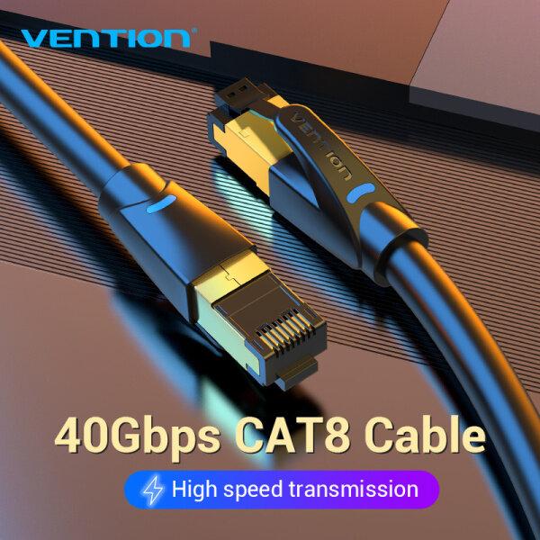 Bảng giá Vention dây cáp mạng lan Cat 8 Ethernet Cable RJ45 Patch Cord Cable Cat 8 Internet Cable SFTP 40Gbps 2000MHz Cáp RJ45 Cat8 Network Cable for Router Modem dây cáp mạng Cat 8 Phong Vũ