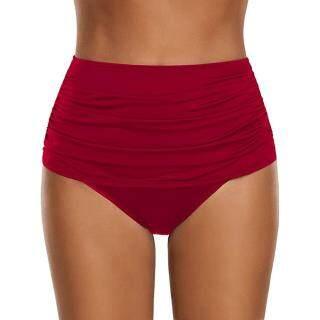 Auburyshop Đồ Bơi Nữ Bikini Xếp Nếp Cạp Cao Cho Nữ Đồ Bơi Tankini Quần Lót RD S Vải Chất Lượng Cao, Đẹp, Gợi Cảm, Sẵn Sàng Giao Hàng, Phong Cách Hàn Quốc, Quần Bơi Ba Điểm, Quần Bơi Đi Biển thumbnail