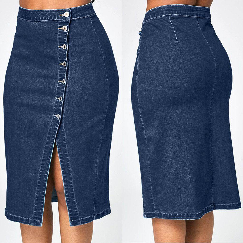exceptional range of styles and colors new arrival size 7 New Arrival ladies skirts Women skirts Women Fashion Denim Pencil Skirt  High Waisted Blow Knee Blue Jeans Skirts Skater Skirts long skirts Plus  size ...
