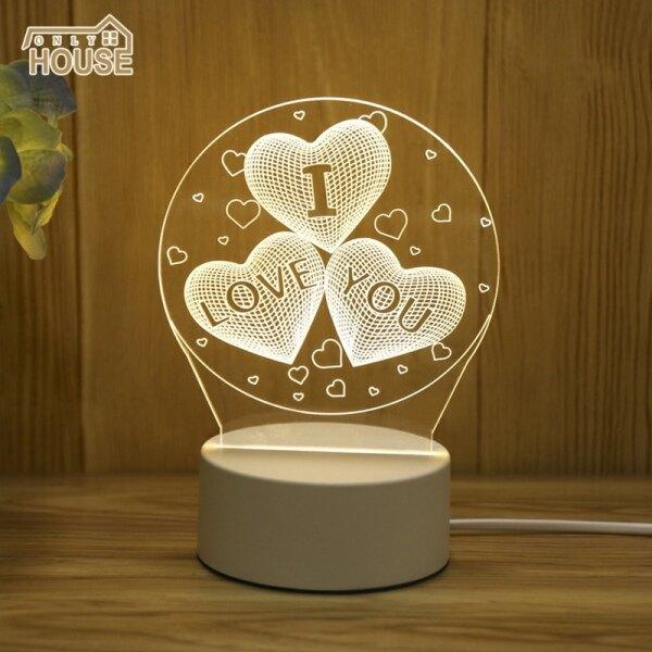 OH Đèn Ngủ Ba Chiều 3D Phòng Ngủ Cạnh Giường Ngủ Đèn Đèn Bàn Mini Hoạt Hình