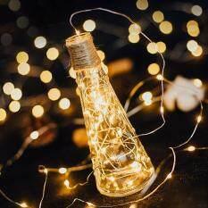 1M Đèn Dây LED Vòng Hoa Đèn Trang Trí Dây Đồng CR2032 Hoạt Động Bằng Pin Trang Trí Tiệc Giáng Sinh