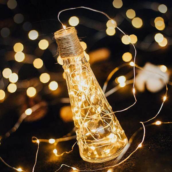 Bảng giá 1M Đèn Dây LED Vòng Hoa Đèn Trang Trí Dây Đồng CR2032 Hoạt Động Bằng Pin Trang Trí Tiệc Giáng Sinh