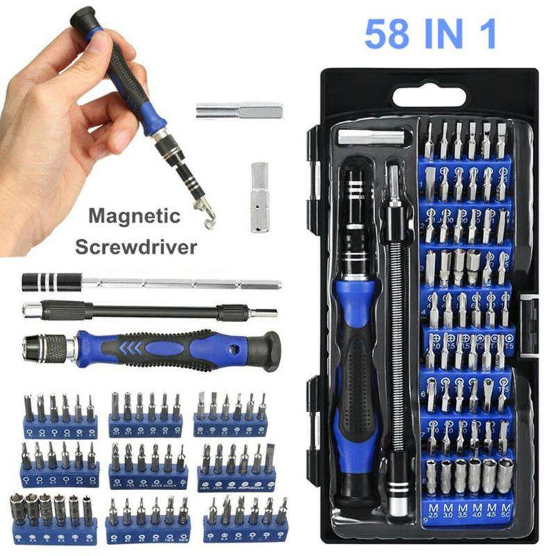 58 IN 1 Repair Hand Tool Kit Precision Small Screwdriver Set 54 Bit For Laptops