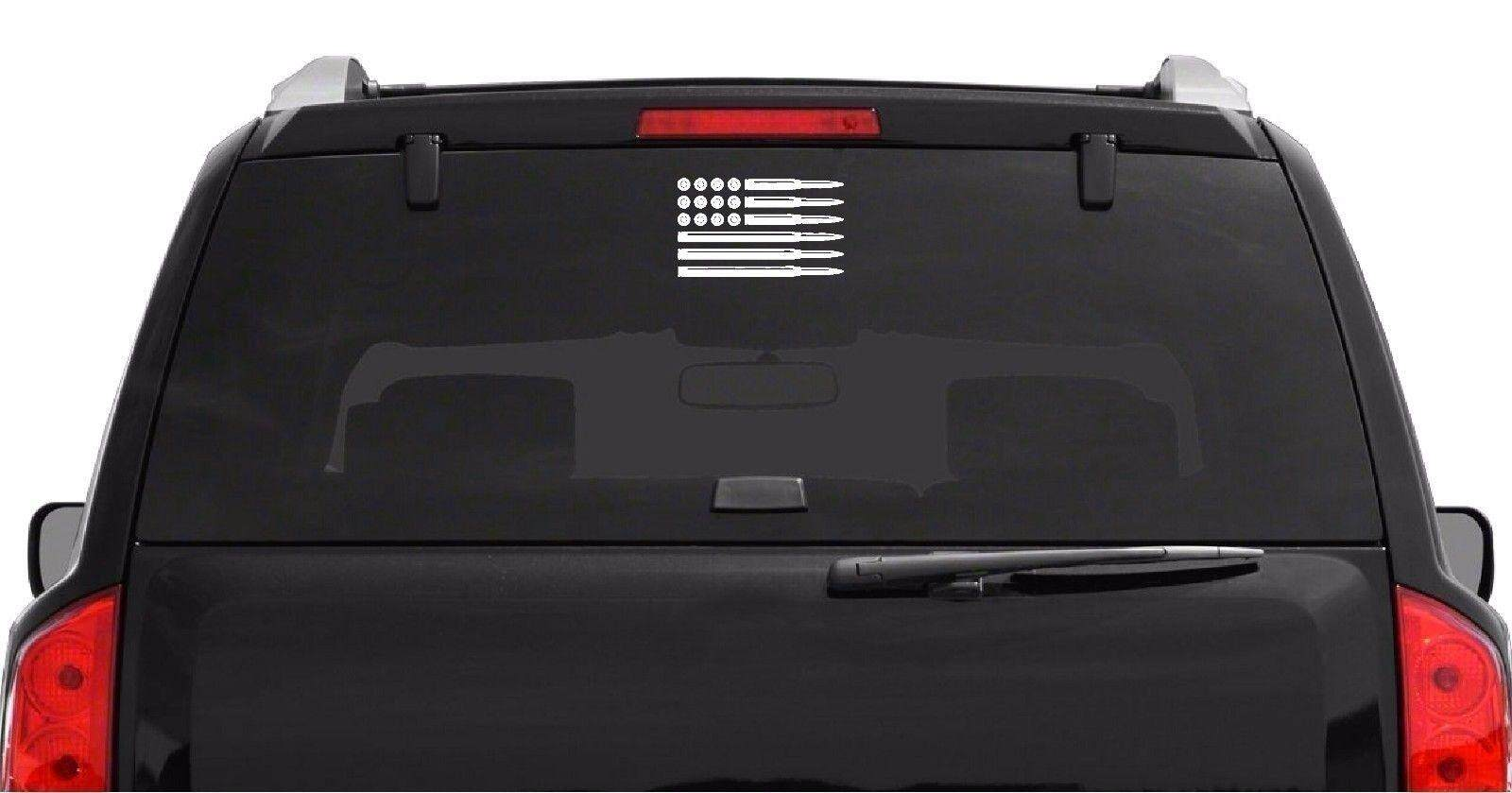 Sticker Car and Truck Decal American Bullet Flag