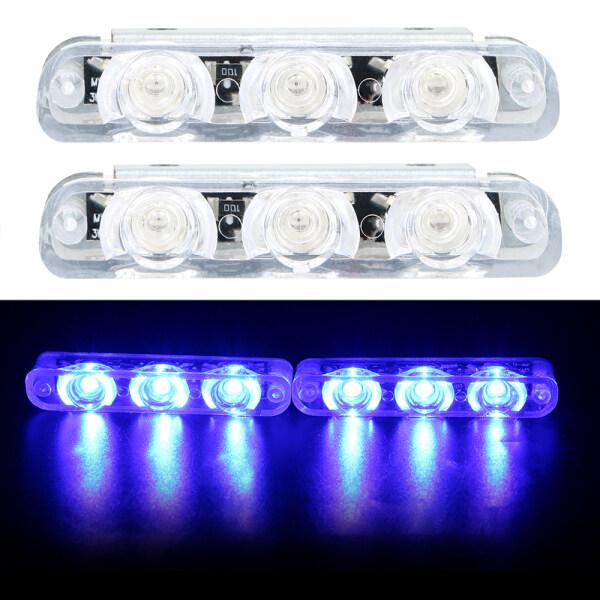 Báo Khẩn Cấp Hậu Sau Đèn Tự Động Phụ Kiện 2 Chiếc Xe Ô Tô, Xe Tải Xe Máy Cảnh Sát Đèn LED Phanh Dừng Đèn 12V 4 Đèn LED Ánh Sáng Nhấp Nháy