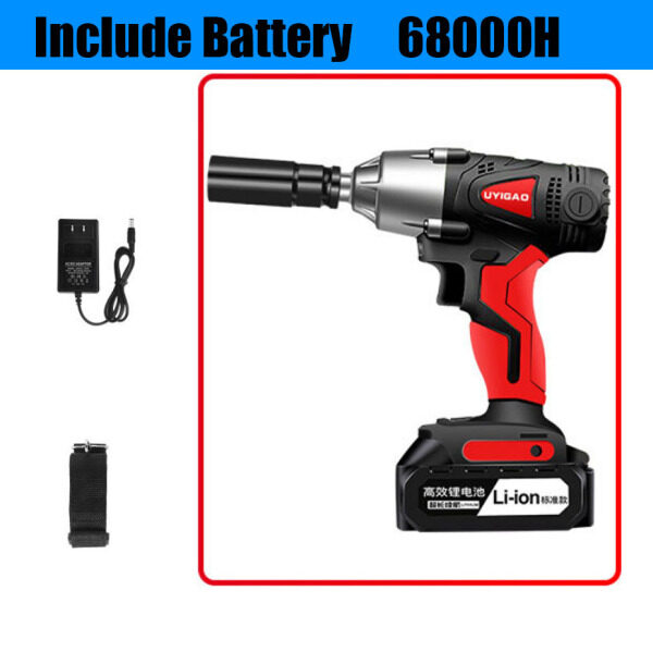 Electric Wrench Rechargeable Wrench 380N.M Large Torque Impact Car Angle Hand Rack Woodworking Sleeve Wind