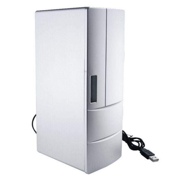 Du Lịch Nhỏ Gọn Ngoài Trời Đa Chức Năng Ký Túc Xá ABS Làm Mát Sưởi Ấm Siêu Êm Đồ Uống Máy Tính Để Bàn Trang Chủ USB Xe Hơi Tủ Lạnh Mini