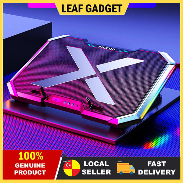 RGB GAMING LAPTOP COOLER with 6 Cooling Fans 6 Gears Wind Speed Low Noise Operation 2 USB Interfaces for 18 Inches Below Laptops High Performance Gaming Experience RB-Q8 Malaysia