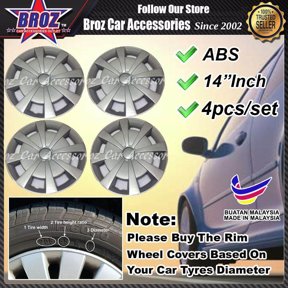 14 Inch Abs Wheel Cover Rim Center Hub Cap Type R By Broz Car Accessories.