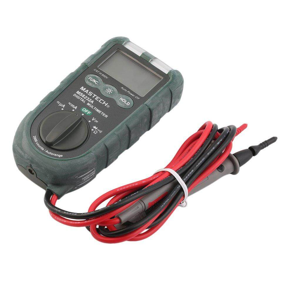 BGD MASTECH Handheld 2000 Counts AC/DC Voltage Current Digital Multimeter