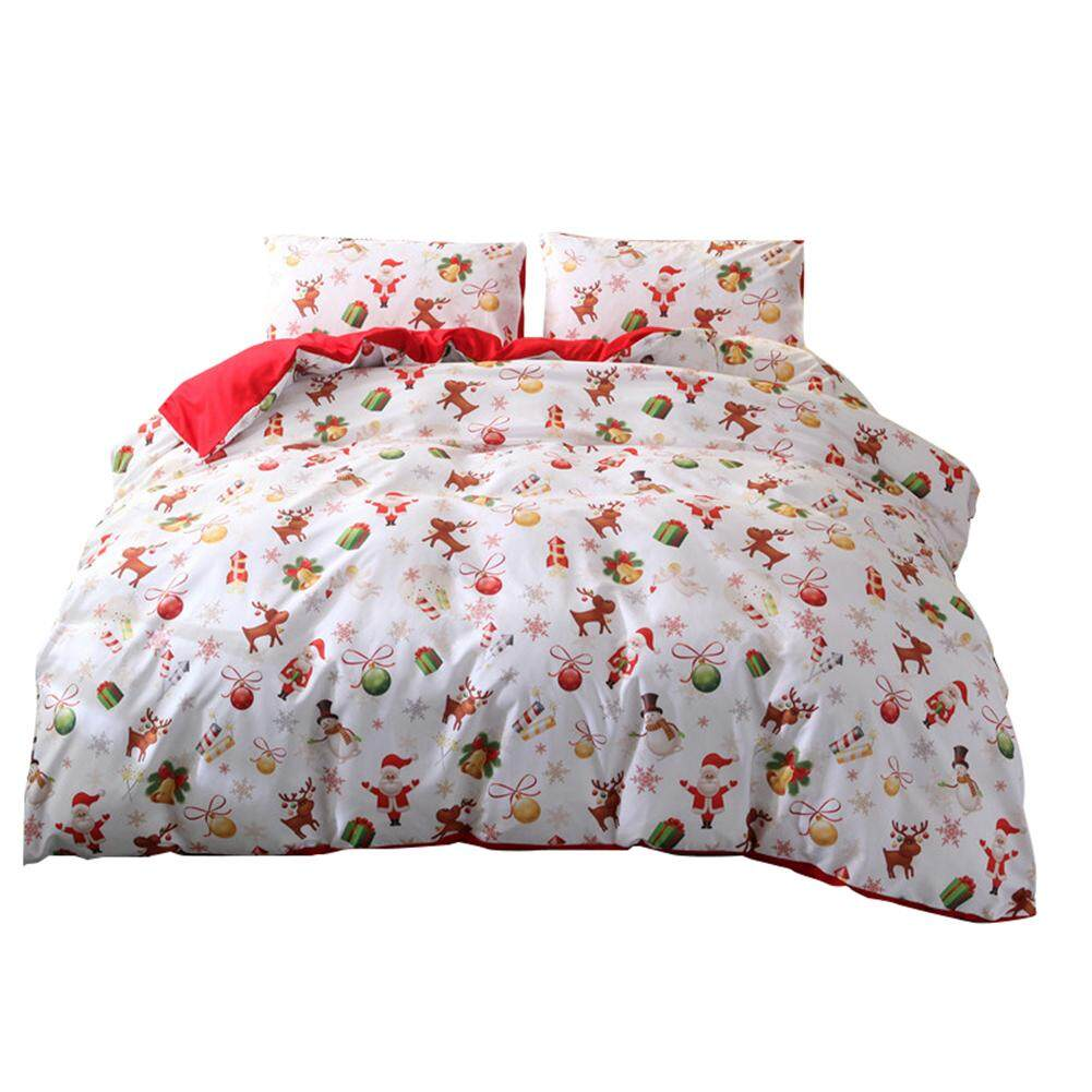 Happy Christmas Three-piece soft and comfortable bed