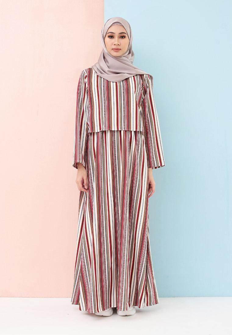 Misslily Line Crop Long Dress