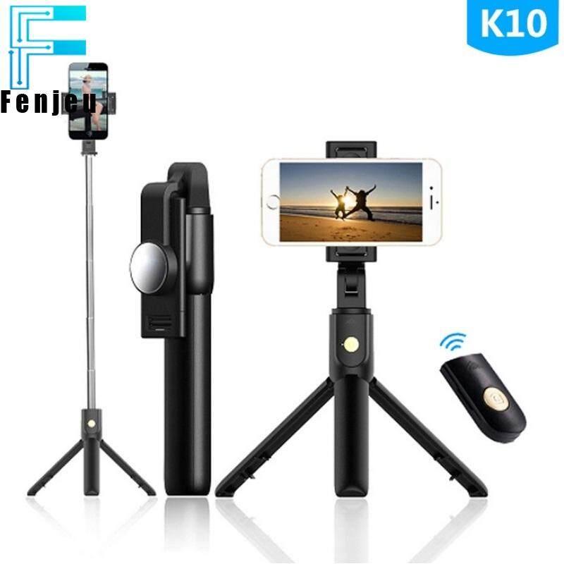 Giá Cực Tốt Khi Mua Mới K10 Gậy Tự Sướng Ngang Dọc Gậy Selfie Bluetooth Có Remote Bluetooth 360 ° Xoay Được Điện Thoại Chân Máy Chất Lượng -Đi Mọi Nơi (Đen)