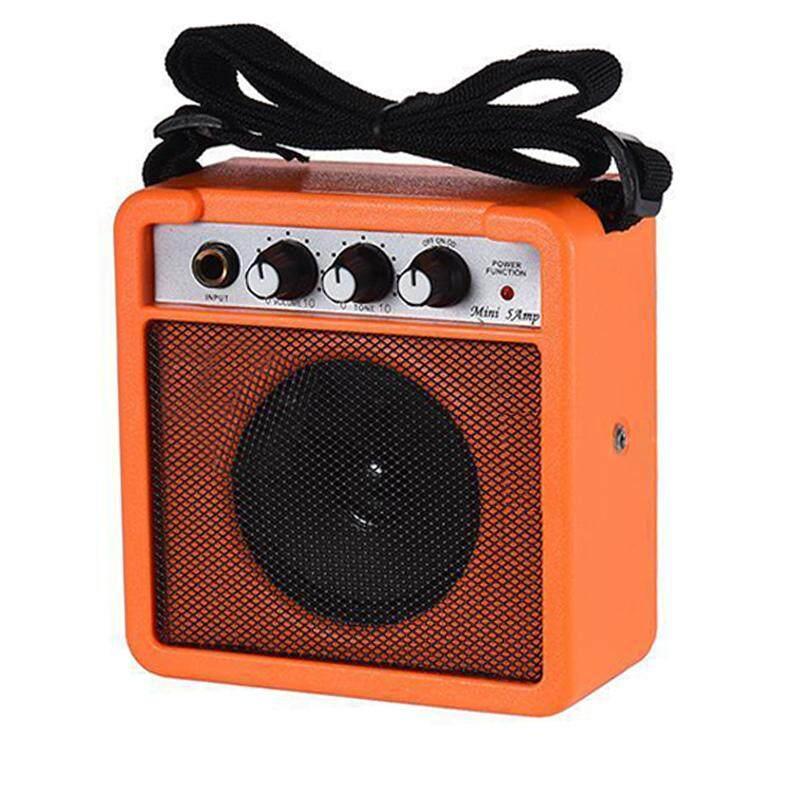 Mini 5 Watt 9V Battery Powered Amp Amplifier Speaker for Acoustic/ Electric Guitar Ukulele High-Sensitivity Orange