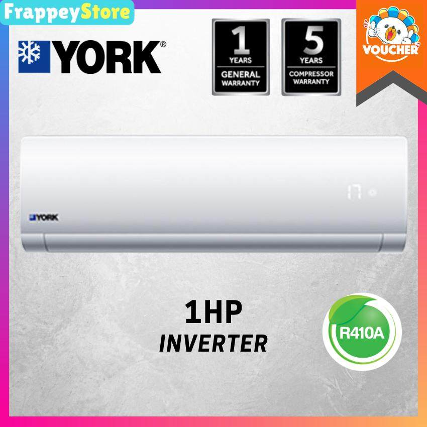 (Frappey)York 1HP / 1.5HP Air Conditioner, Inverter R410a Aircond With LED Light (YWM5J10AAS)(YWM5J13AAS) image on snachetto.com