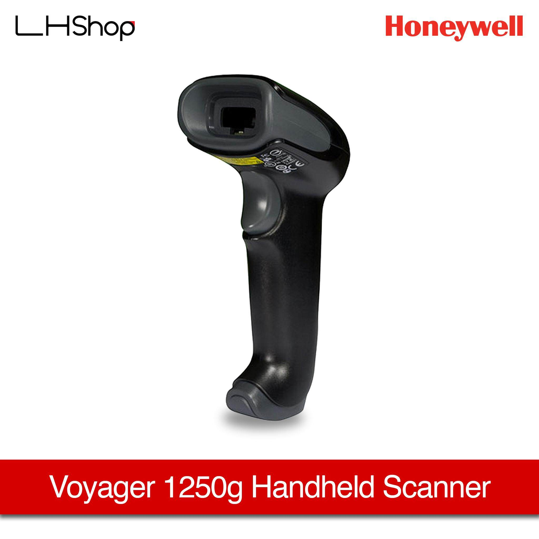 Honeywell Voyager 1250G Handheld Barcode Scanners [1250G-2USB-1] with stand (Black)