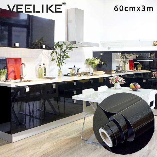 Veelike Kitchen Cabinet Liner Adhesive Contact Paper for Cabinet Cover Contact Paper Self Adhesive Shelf Liner Adhesive Contact Paper Waterproof Wall Stickers Self Adhesive Wallpaper for Kitchen Countertops Peel and Stick Vinyl Sheet Adhesive Sheet
