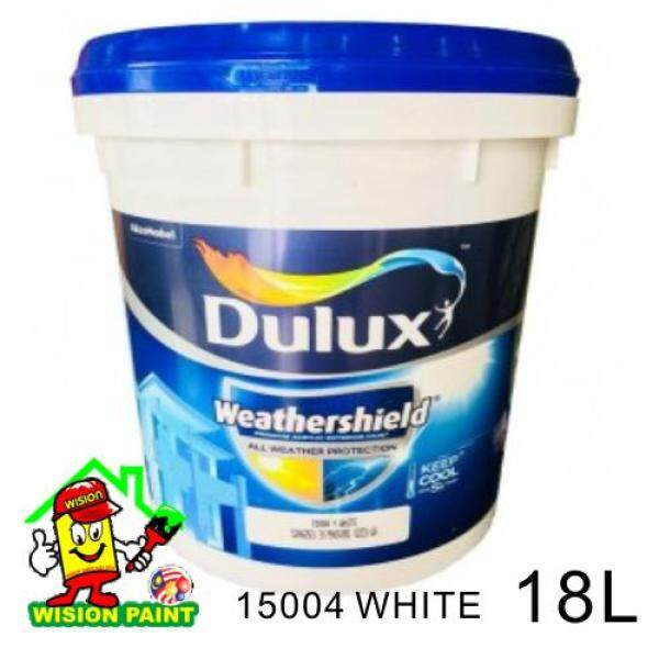 ( 18L ) Dulux Weathershield 18L- 15004 White ( FOR EXTERIOR WALL PAINT )