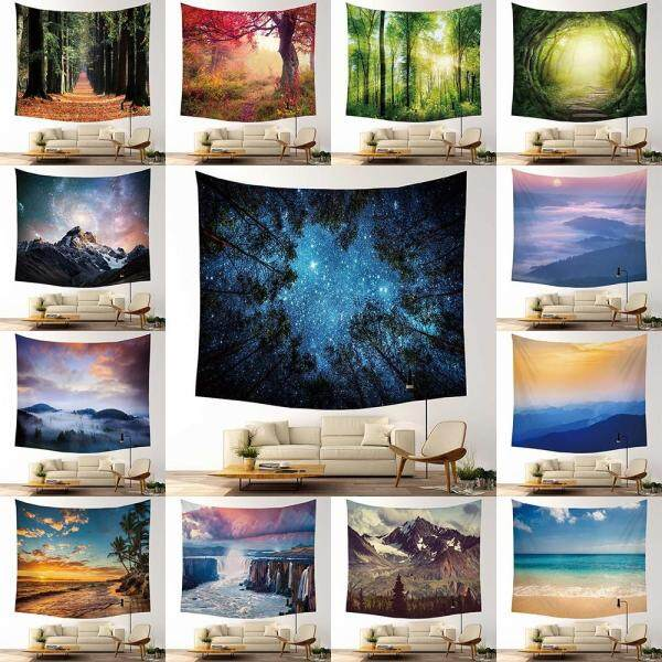 Scenery Wall Hanging Tapestry Bedroom Blanket Printed Decor