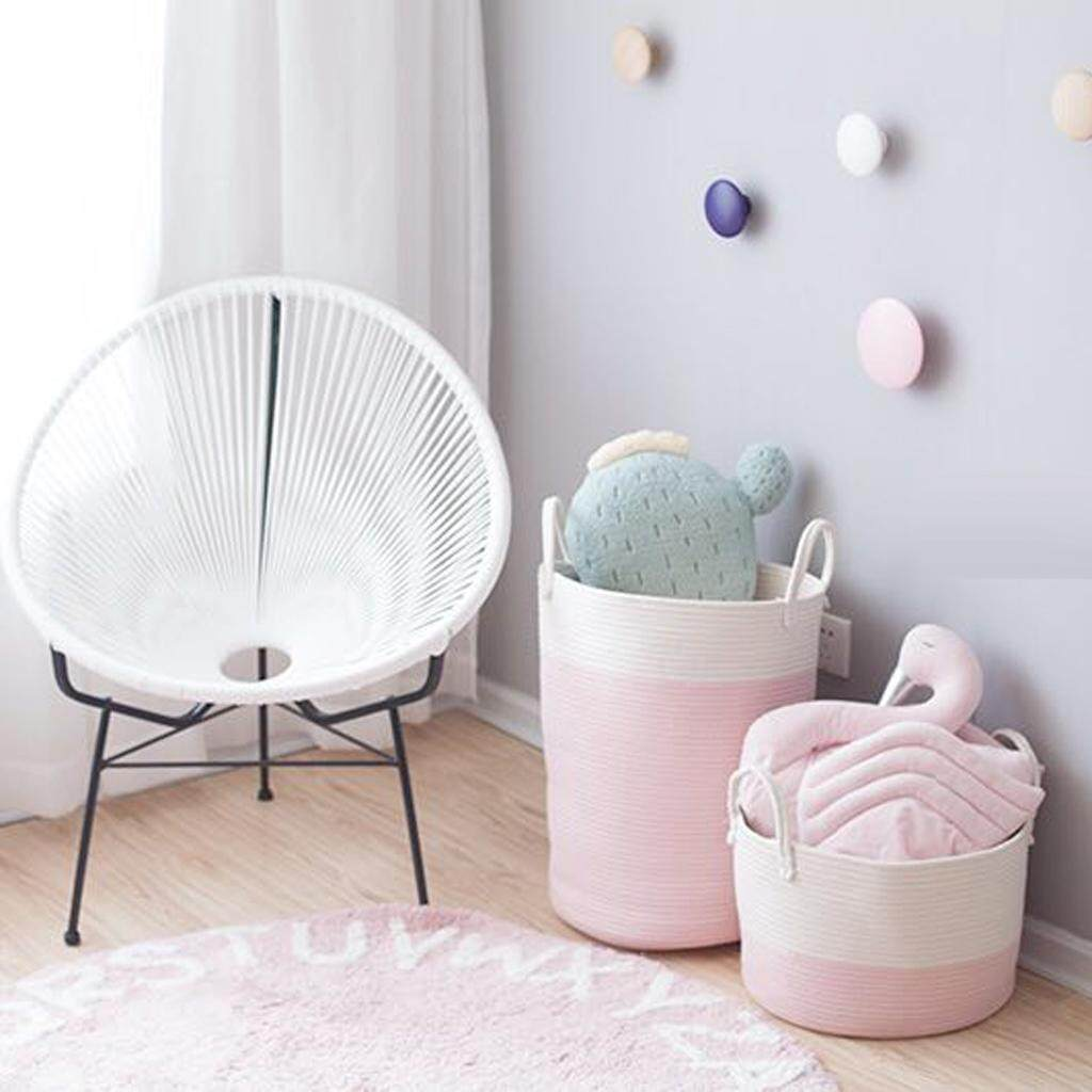 Fityle Cotton Rope Basket for Laundry Sundries Toys Baby Boys and Girls Room Decor