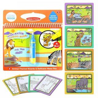 Sách Vẽ Nước Thần Kỳ Tái Sử Dụng Sách Tô Màu Bút Vẽ Nguệch Ngoạc, Đồ Chơi Vẽ Tranh Hoạt Hình Bảng Vẽ Cho Giáo Dục Trẻ Em Quà Sinh Nhật thumbnail