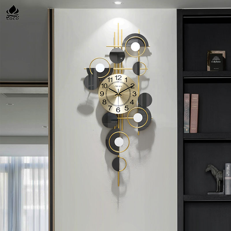 Light Luxury Clock Wall Clock Living Room Home Creative Dining Room Wall Decoration Wall Mute Clock Lazada Singapore