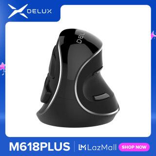 Delux M618 Cộng Với Dọc Công Thái Học Chuột Không Dây 800 1200 1600 DPI 6 Nút Chức Năng Chuột Quang Với Có Thể Tháo Rời Tấm Đỡ Cổ Tay thumbnail