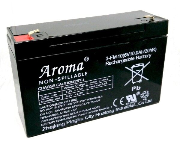 Aroma Compatible Back Up Battery 6V 10AH / 12AH Rechargeable Seal Lead Acid Battery Malaysia
