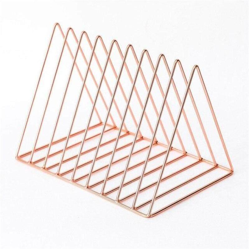 Sáng Tạo Bàn Chủ kim loại đứng cho cuốn sách bookends Tim Tam giác hình dạng ngôi sao kệ sách máy tính để bàn Home Office Organizer Nguồn cung cấp