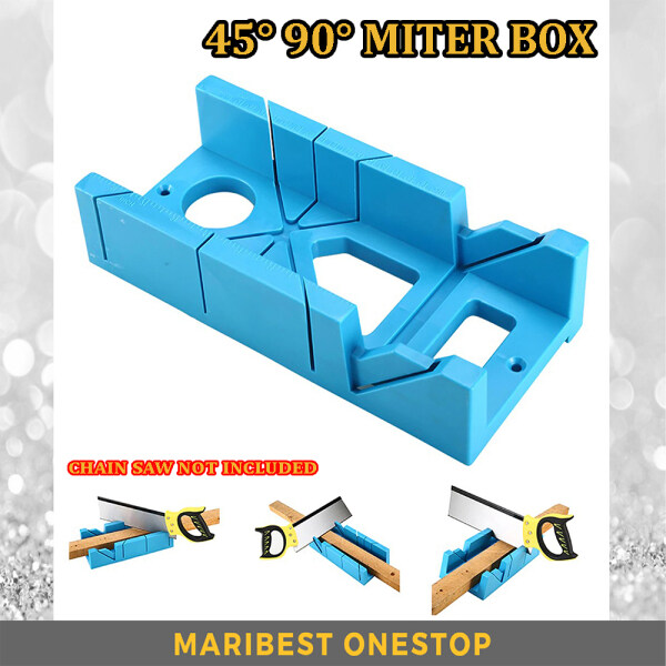 MB154 45/90 Degree Miter Box Wood Cutting Clamping Miter Saw Box Cabinet Case Woodworking Tools Angle Cutting For Wood Tile