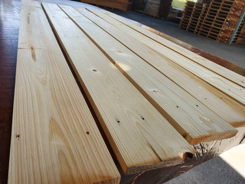 10 pcs - 12mm x 90mm x 4ft Pine Wood (Reconditioned)