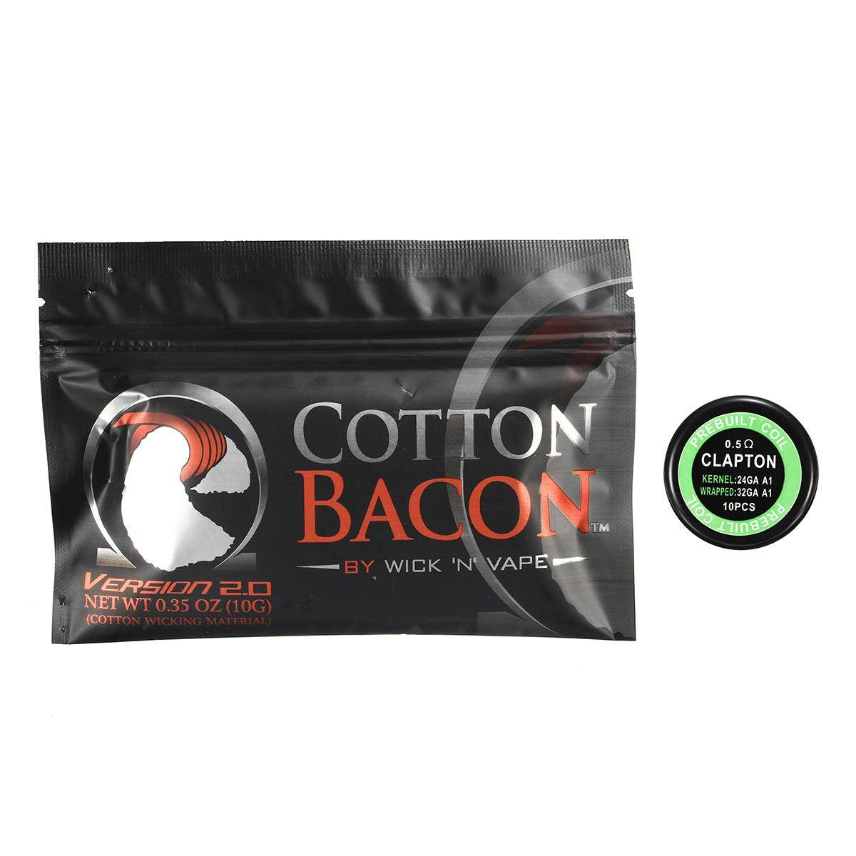 10pcs Pre-Built Clapton Coils 0.5Ω DIY For RDA With Cotton Bacon V2 brand new