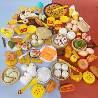Đồ Chơi Nhà Bếp, Thực Phẩm Mô Phỏng Cho Trẻ Em Bánh Bao Hấp Bánh Pizza Hình Nón Bộ Đồ Nấu Ăn Cho Bé Trai Bé Gái, Chơi Đồ Chơi Nhà thumbnail