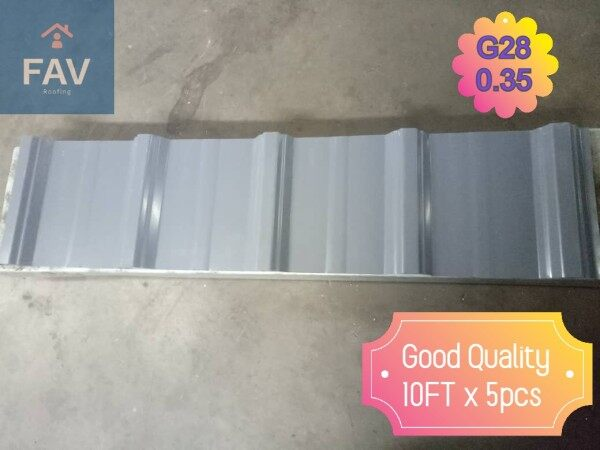 [MidYear Promotion 10%OFF] Metal Roofing G28 0.35mm TCT x 10 Foot Run x 5pcs
