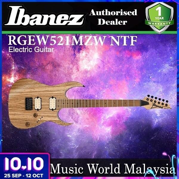[Not Available] Ibanez RGEW521MZW-NTF Nyatoh Body With Zebrawood Top Natural Flat (RGEW521MZW NTF) Malaysia