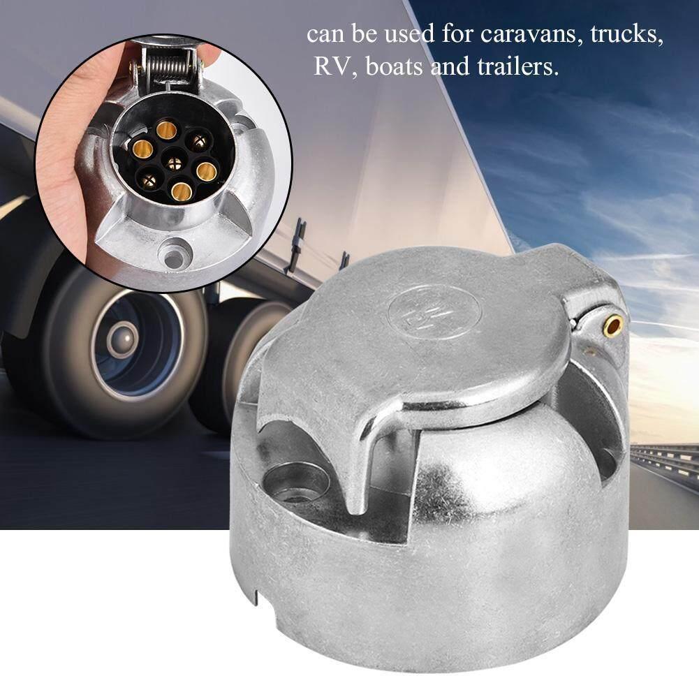 12V 7Pin Trailer Plug Socket Connector Adapter for Trailer Caravan Towing  Towbar