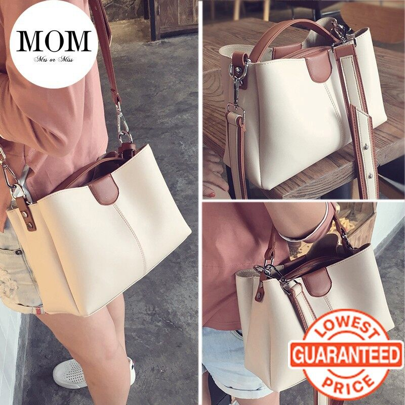 YANGQI Women Bag New Korean Style All-match Wide Straps Shoulder Bag Handbag Bag Romance Handbag