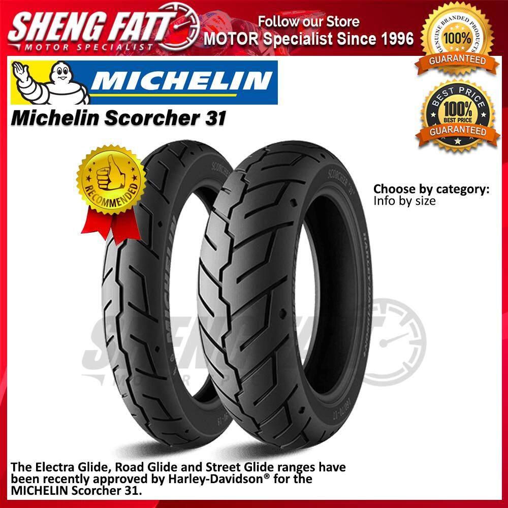 Michelin Scorcher 31 MOTORCYCLE TYRE (ROAD CRUISER) : 80/90-21(54H) - 180/65-B16(81H)