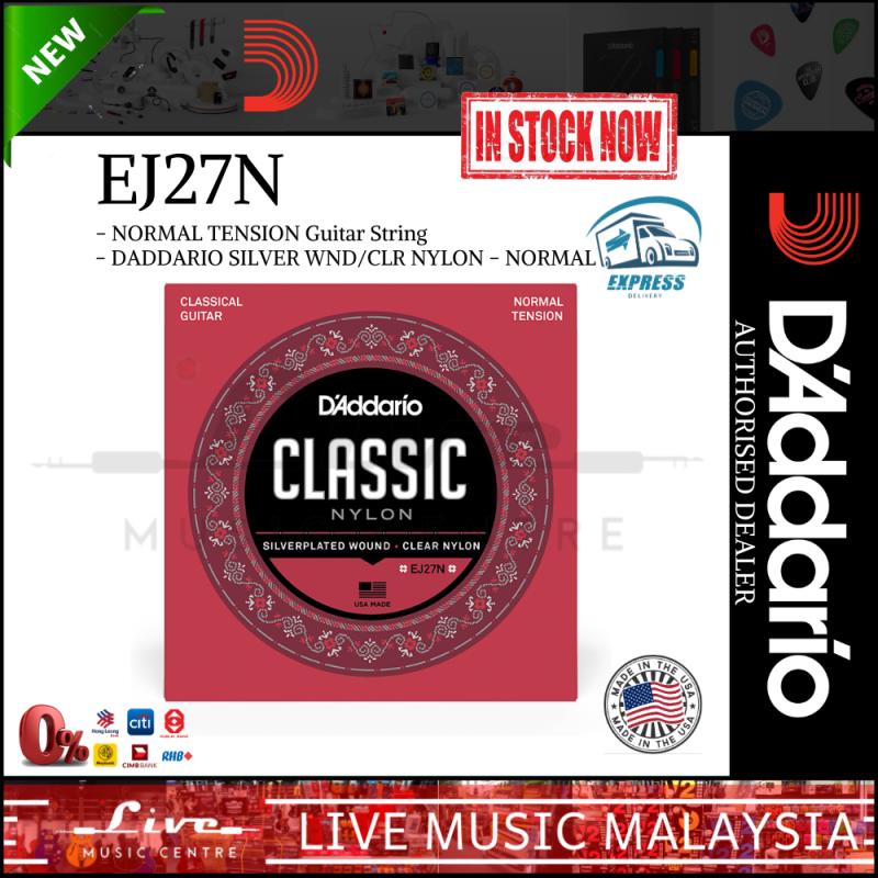 DAddario EJ27N - Nylon Classical Strings, Normal Tension (DAddario) Malaysia