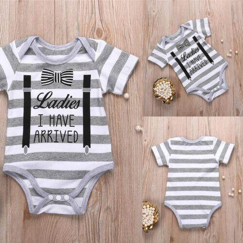 Hot Newborn Baby Infant Girl Boy Tops Romper Jumpsuit Bodysuit Outfits Clothes