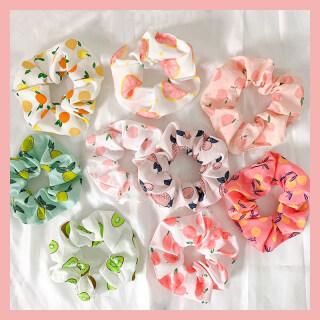 Bộ 9 Chiếc Cà Vạt Tóc In Hình Trái Cây Hàn Quốc Thời Trang, Băng Đô Co Giãn Nhiều Màu Sắc Ngọt Ngào Dây Buộc Tóc Đuôi Ngựa Phụ Kiện Tóc Phụ Kiện Đội Đầu Nữ thumbnail
