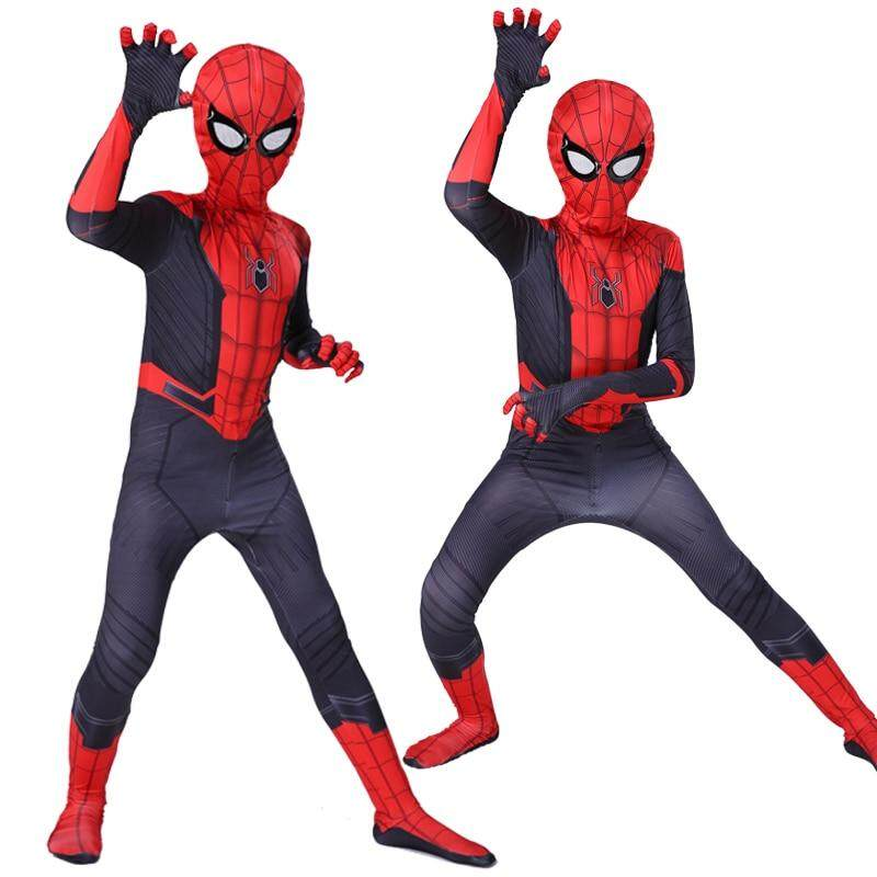 Spider-Man Cosplay Boys Spiderman Zentai Child Costume Suit Far From Home Kids
