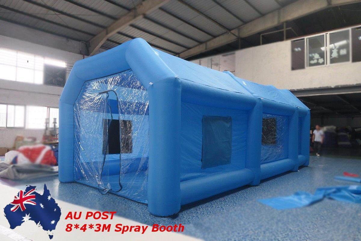 inflatable spray booth paint booth inflatable car paint booth custom inflatable 8*4*3m 1*Inflatable tent(with Accessories)