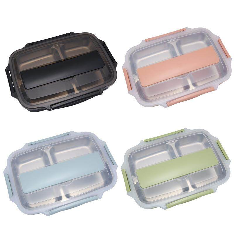 304 stainless steel lunch box Student office worker compartment lunch box sealed lunch box