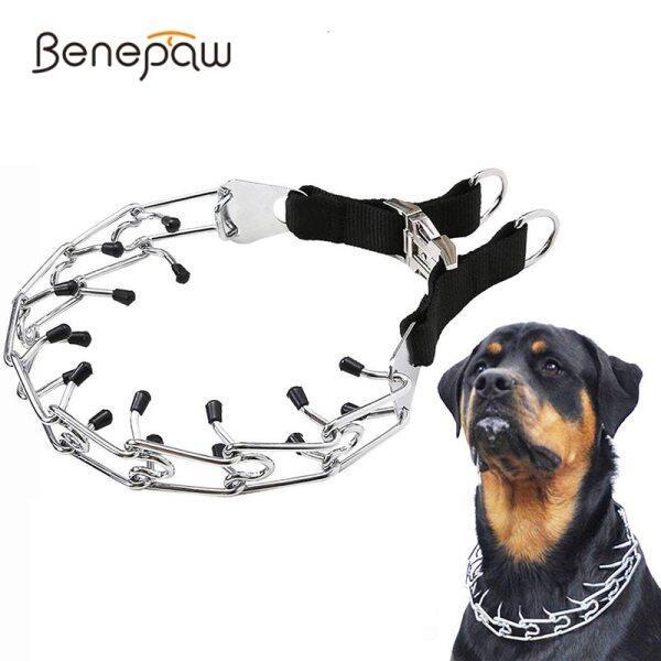Benepaw Vòng Cổ Huấn Luyện Chó Ngạnh Có Thể Điều Chỉnh Choke Cổ Áo Với Comfort Lời Khuyên Cho Chó Lớn Và Trung Bình Chó Chăn Cừu Đức Pitbull