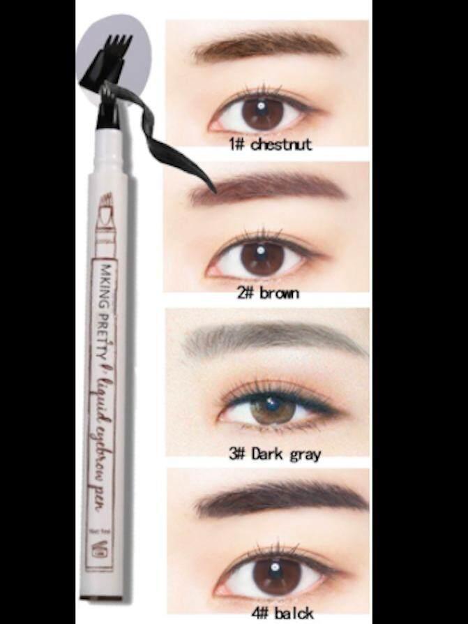 40b0e0b3a READY STOCK Luxury BEAUTICITY Waterproof Liquid Eyebrow Tattoo Four Eyebrow  Pencil!