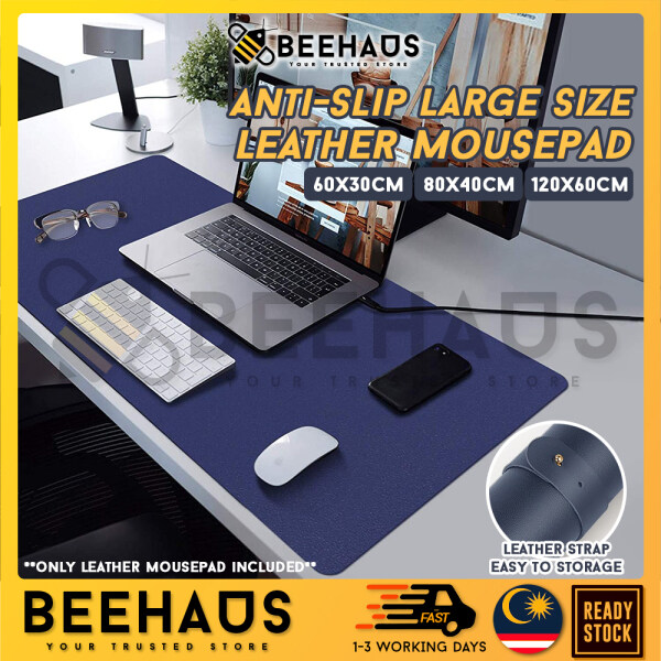 BEEHAUS Large Size Leather Mouse Pad Anti-slip Mousepad Study Desk Mat Computer Gaming Keyboard Mat Waterproof Pads Tetikus Besar Malaysia