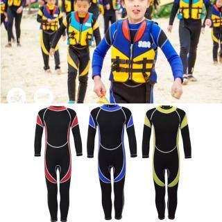 2.5Mm Cao Su Tổng Hợp Đầy Đủ Chiều Dài Trẻ Em Hấp Wetsuit Chàng Trai Cô Gái Tuổi Teen Lướt Sóng Fullsuit thumbnail